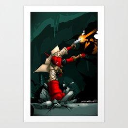 Hell-Boy Battle Art Print