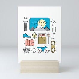 Adventure Supplies Mini Art Print