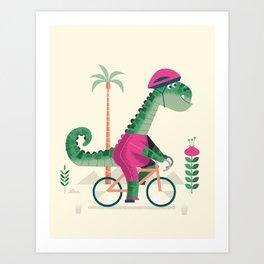 dino rider Art Print