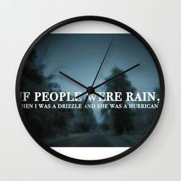 Rain Quote- John Green Wall Clock