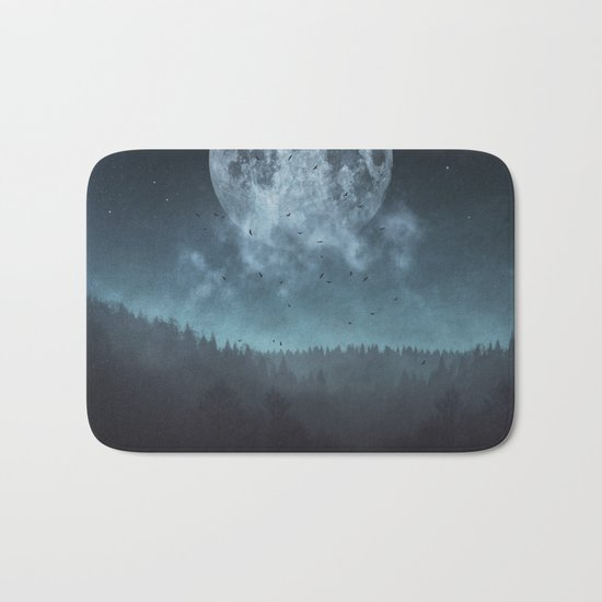 Moon over Trees Bath Mat