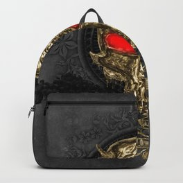 Awesome golden skull Backpack