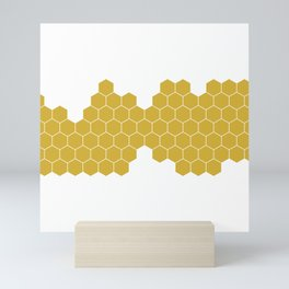 Honeycomb White Mini Art Print