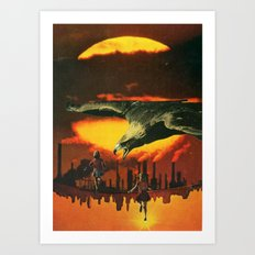 Girls at Sunset (2014) Art Print