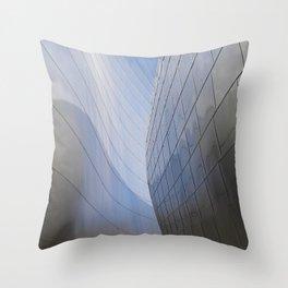 METALLIC WAVES Throw Pillow