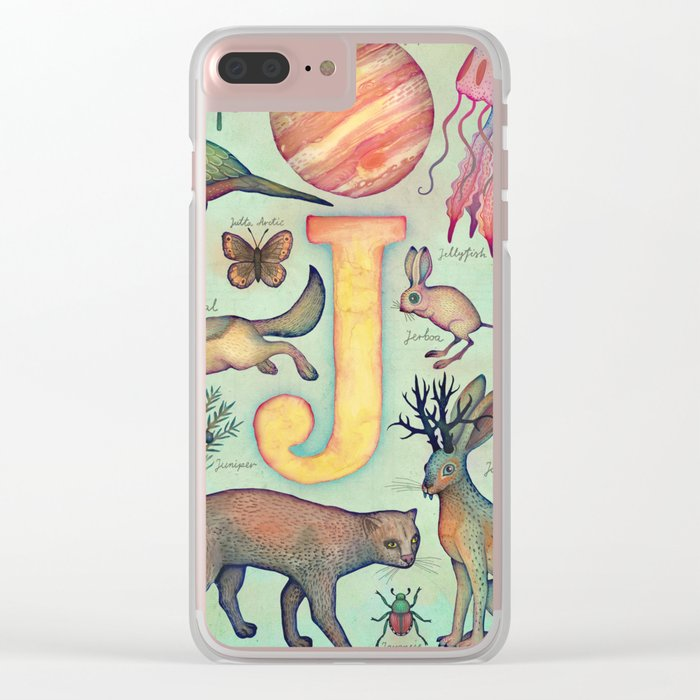 'J' collection Clear iPhone Case