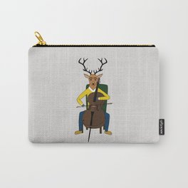 Deer playing cello Carry-All Pouch