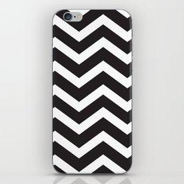 Black & White Chevron iPhone Skin