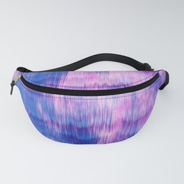 Modern Abstract Electric Blue Pink Watercolor Ikat Fanny Pack