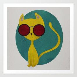 Yellow Cat Art Print