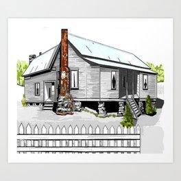 Vintage Farmhouse Art Print