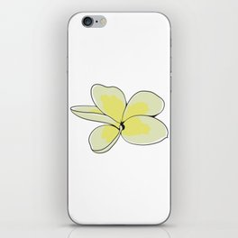 Frangipani Plumeria Flower iPhone Skin