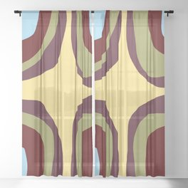 Abstract Structure Sheer Curtain