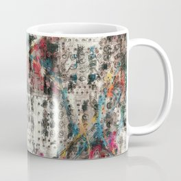 Analog Synthesizer, Abstract painting / illustration Coffee Mug