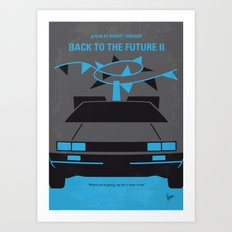 No183 My Back to the Future minimal movie poster-part II Art Print