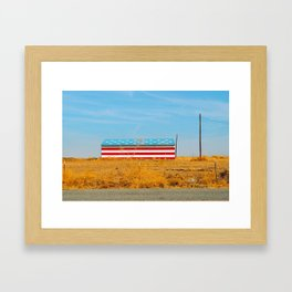 America flag house Framed Art Print