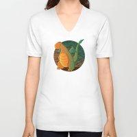 patrick V-neck T-shirts featuring Patrick by Fernanda Frasson