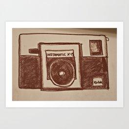 Kodak Instamatic Art Print