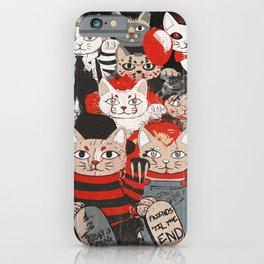 Horror Maneki Neko Vintage Gang Halloween Party 2019 T-Shirt iPhone Case