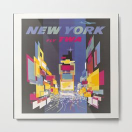 Fly TWA New York Metal Print
