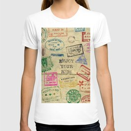Travel, Stamps. World T-shirt