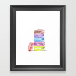 a pile  of macaroons Framed Art Print