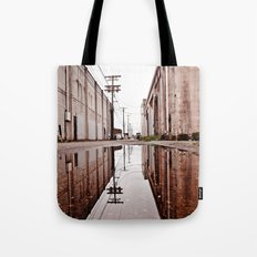 Urban alley reflected Tote Bag