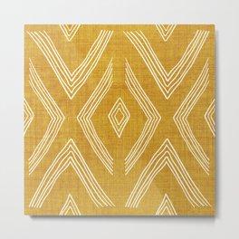 Birch in Gold Metal Print