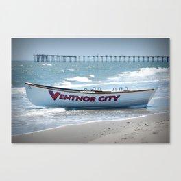 Lifeguard boat Canvas Print