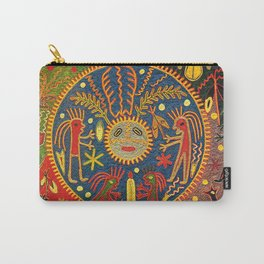 Peyote Sun Ritual Huichol Carry-All Pouch