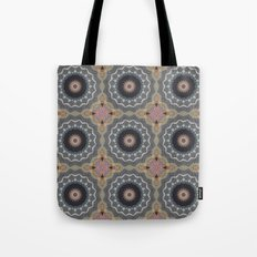 Bohemian Dream Sequence --Whimsical Vintage Textile Kaleidoscope Mandala Tote Bag