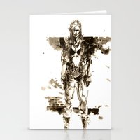 metal gear Stationery Cards featuring Metal Gear Solid wolf by Hisham Al Riyami