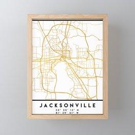JACKSONVILLE FLORIDA STREET MAP ART Framed Mini Art Print