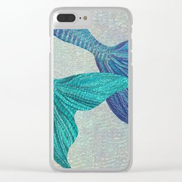 Glistening Mermaid Tails Clear iPhone Case