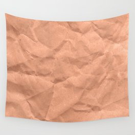 Kraft paper. crumpled paper Wall Tapestry