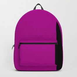 Purple with Black Stripe Backpack