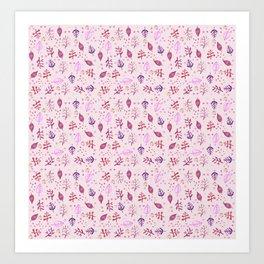 Autumn Pink Pattern Art Print