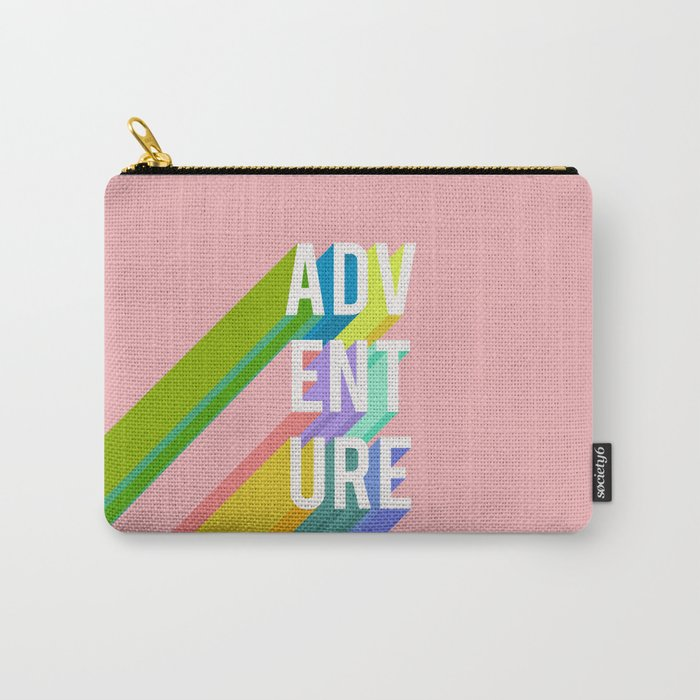 Adventure in Pink Carry-All Pouch