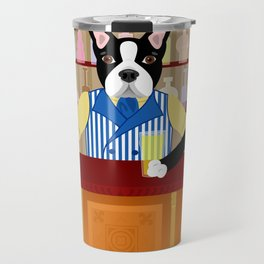 Boston Terrier Beer Pub Travel Mug