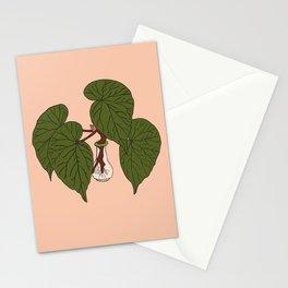 Begonia Houseplant Illustrated Print Stationery Cards