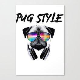 Pug Style Canvas Print