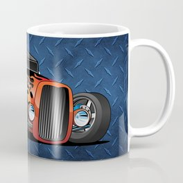 30's Street Rod with Classic Hot Rod Flames Cartoon Coffee Mug