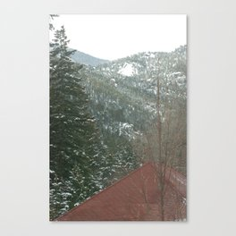 View of Pike's Peak from Tram Car in the Colorado Springs, Colorado Area Canvas Print