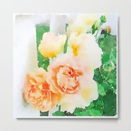 Cottage Roses Metal Print