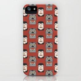 Vampires vs Werewolves (Patterns Please) iPhone Case