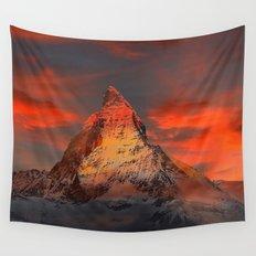 Mountain Matterhorn Switzerland Wall Tapestry