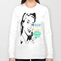 workout Long Sleeve T-shirts featuring workout shirt, running shirt by Iris & Ino