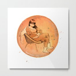 Watercolour - Girl 2 Metal Print