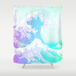 The Great Wave Unicorn Shower Curtain