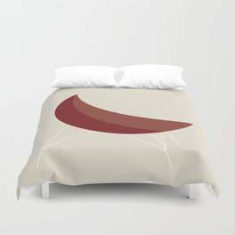 Red Coconut Chair by George Nelson Duvet Cover